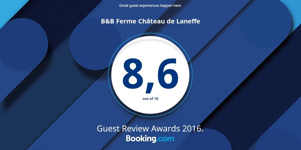 Booking Award 2016 - Ferme Château Laneffe
